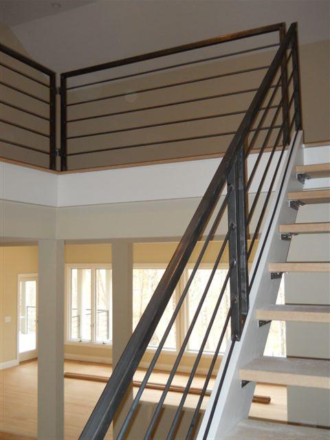 Interior Metal Stairway And Railing